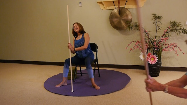 (30-min) Standing Tall with Stick Yoga with Pinush Chauhan