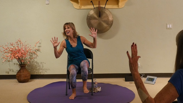 (1 Hr) Head to Toe Joint Flow - Chair Yoga with Sherry Zak Morris