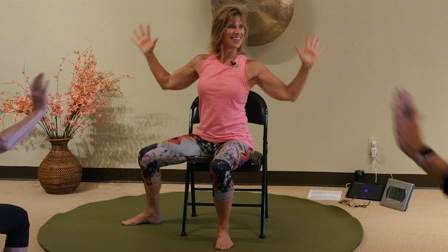 (1 Hr) Fluid & Strong All Dancing Chair Yoga Class with Sherry Zak Morris