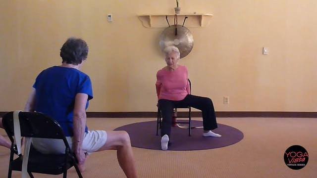 (30 min) Sunny Chair Yoga Class for Seniors