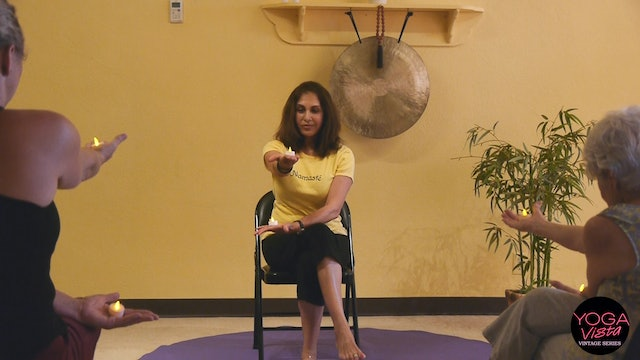 (1 Hr) Holding Tea Lights - Meditative Chair Yoga Flow with Pinush Chauhan