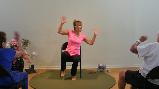 (1 Hr) Friday the 13th Full Moon Chair Yoga Class with Sherry Zak Morris