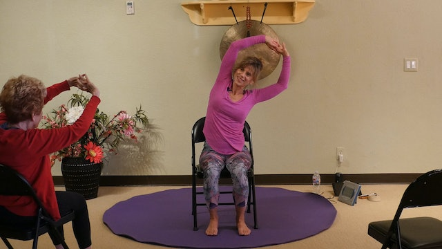 (1 Hr) Get a Yoga Body! Chair Yoga with Integrated Movements with Sherry