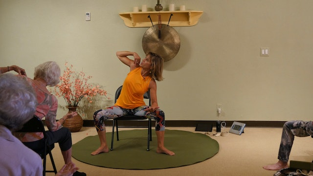 (1 Hr) Lower Body Love - Chair Yoga Class with Sherry Zak Morris