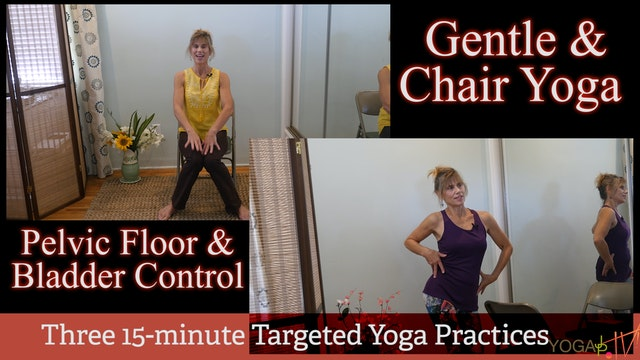 4-Part Lecture & 3-Part Yoga Practice Series for Incontinence, Bladder Re-Training & Pelvic Floor Strengthtening