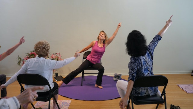 (1 Hr) Get the Glow Chair Yoga Class with Sherry Zak Morris