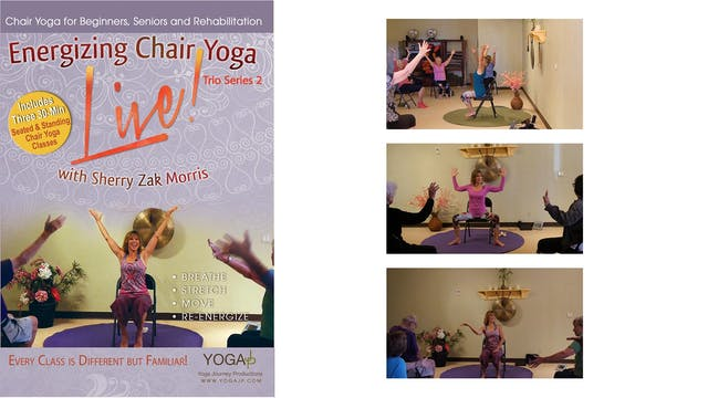 Trio 2 - Energizing Chair Yoga LIVE! 3 Class Set - with Sherry Zak Morris