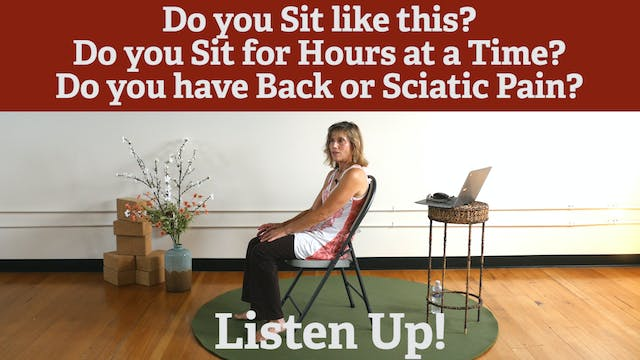"""Go Lumbar Support! Take this """"Sitting..."""