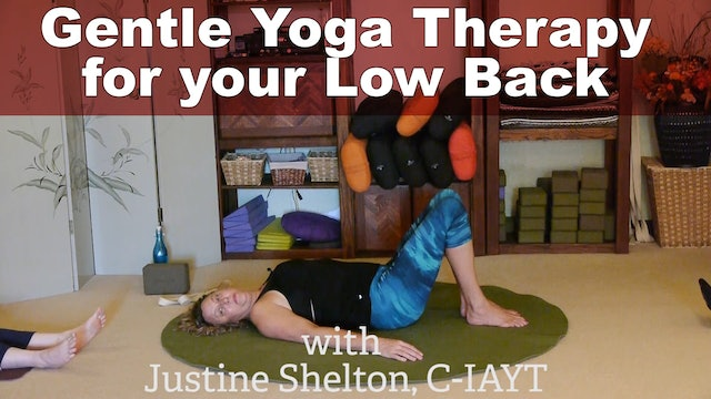 Gentle Yoga Sequence for Stronger Knees and Low Back Pain Relief with Justine