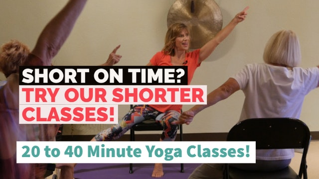Shorter Chair Yoga Classes (Under 1-Hr)