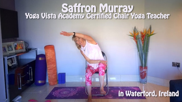 (1 Hr) Chair Yoga Class from Ireland with Saffron Murray