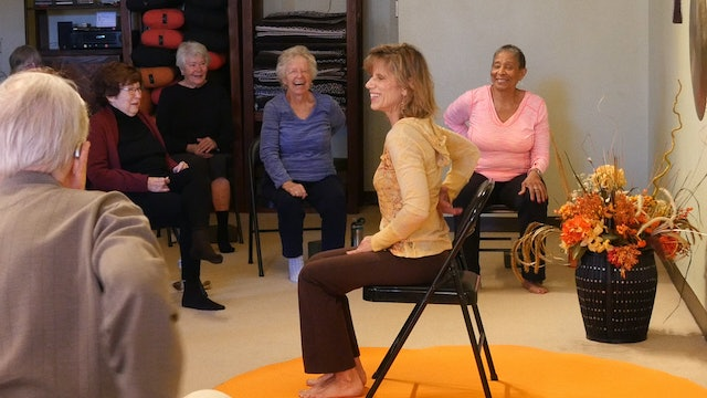 (1 Hr) Lymph, Laughter and Lots of Moving Chair Yoga Class with Sherry
