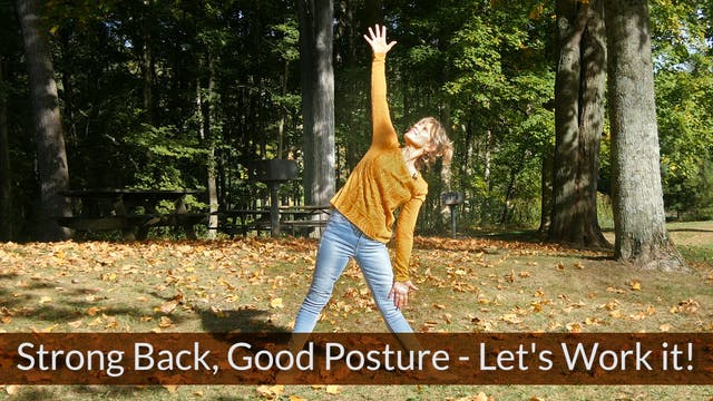 Strong Back & Good Posture with Sherry Zak Morris, Certified Yoga Therapist