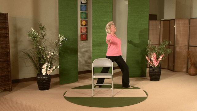 (30-min) Standing Chair Yoga with Paula