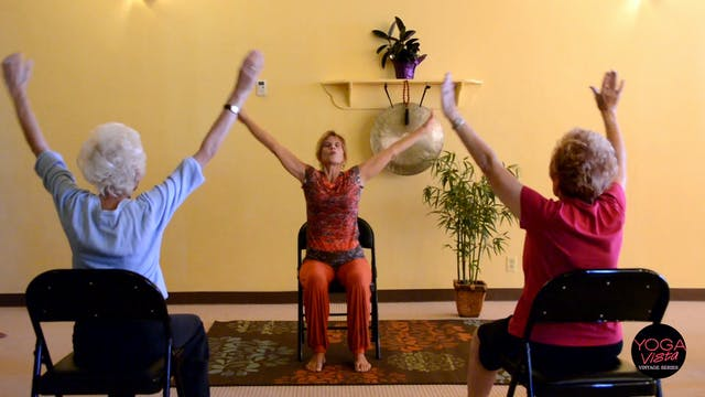 (30-min) Actively Aging with Energizing Chair Yoga - Seniors get Moving with Sherry Zak Morris