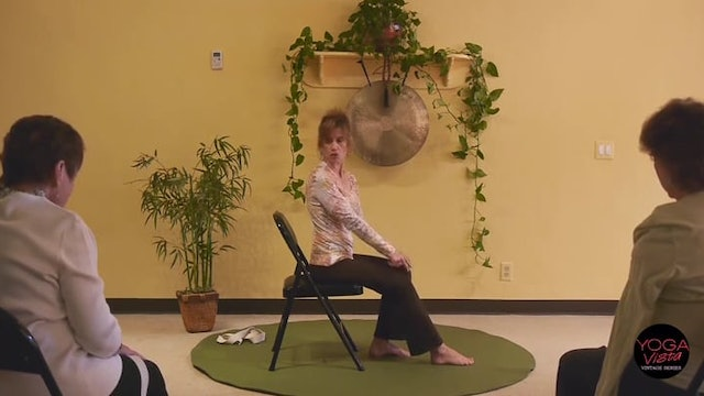 (1 Hr) Chair Yoga Class: Somatic Movements to Release Tension with Sherry