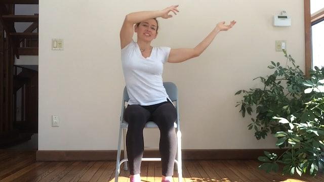 (30-min) Fun and Playful - Viki Boyko leads a Chair Yoga Seated class