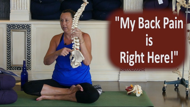 """""""My Back Pain is Right Here"""" and What Does that Mean? with Justine Shelton"""