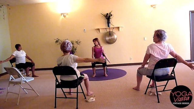 (1 Hr) Working the Legs & Glutes Chair Yoga Class with Sherry Zak Morris