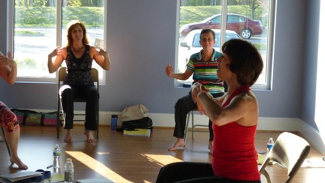 Find a FUN Chair Yoga Teacher like Olga Danilevich! Let's Dance!