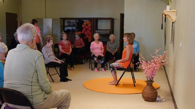 (1 hr) Sharing the Sunny Side of Life - Chair Yoga Class with Sherry Zak Morris