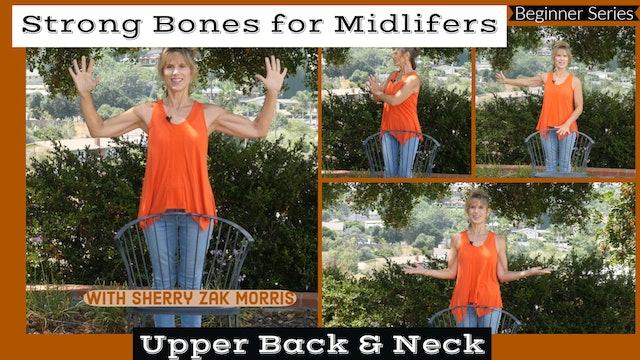 (15-Min) Strong Bones for Midlifers: Upper Back & Neck with Sherry Zak Morris