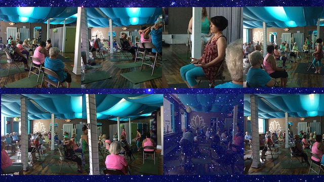 (1 Hr) Chair Yoga Class LIVE! at the Yoga Underground in New York! with Lynda Sandoval