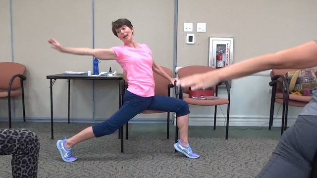 (1 Hr) Chair Yoga Class Fun-Time Medl...