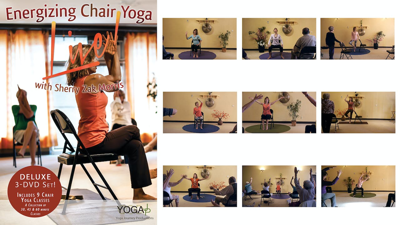 Deluxe 1 - Energizing Chair Yoga LIVE!  9-class Series - with Sherry Zak Morris