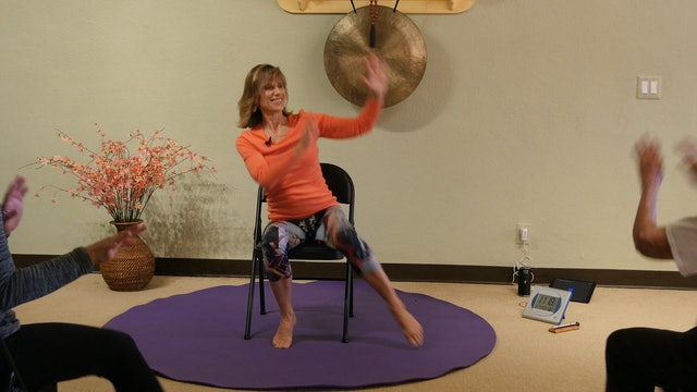 Raindrops Keep Falling on my Head - Rainy Day Chair Yoga Dance with Sherry