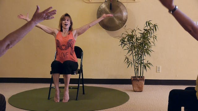 (1 Hr) Chair Yoga for your Heart! Keep moving! with Sherry Zak Morris