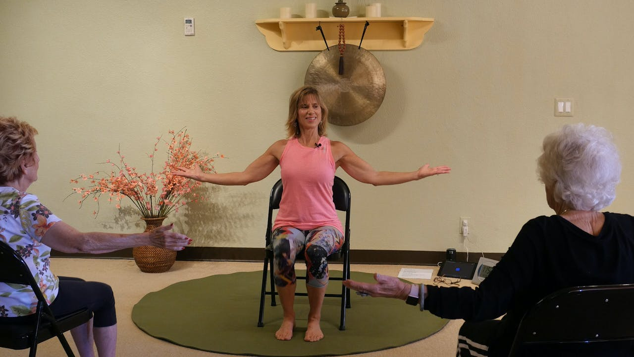 (1 Hr) Fluid and Strong ALL Chair Yoga Dance Class with Sherry Zak Morris