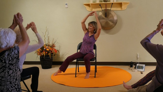 (1 Hr) Chair Yoga Class to Combat Congestion through Movement with Sherry