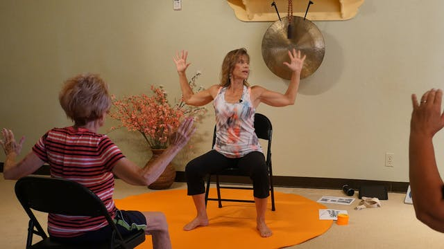 (1 Hr) Tall, Straight and Erect Chair Yoga Class with Sherry Zak Morris