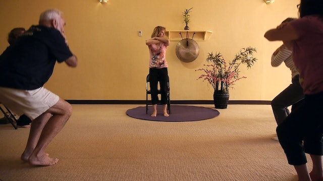 (1 Hr) Advanced Chair Yoga for a bit more Challenge! with Sherry Zak Morris
