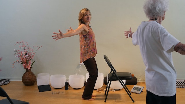 (1 Hr) Chair Yoga with Sound Healing Svasana with Sherry Zak Morris/Bob Grimmick
