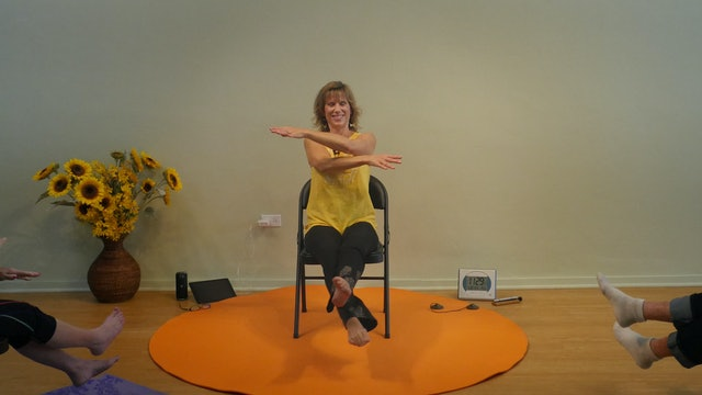 (1 Hr) Sunshine and Happiness the Doris Day Way - Chair Yoga with Sherry
