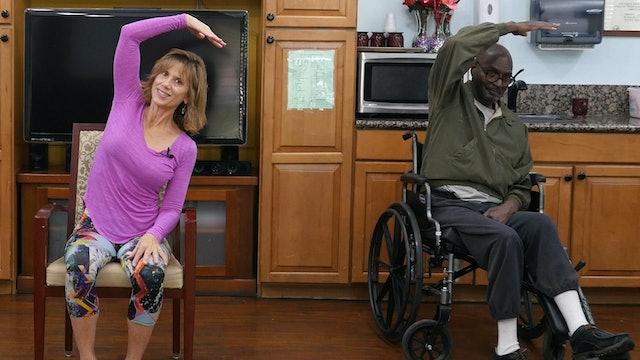 (15-min) Heart Opening Energizing Wheelchair Yoga Class with Sherry Zak Morris