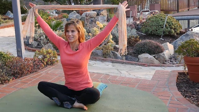 (6-Min) Grab a Scarf for some Awesome Shoulder Stretches! with Sherry Zak Morris