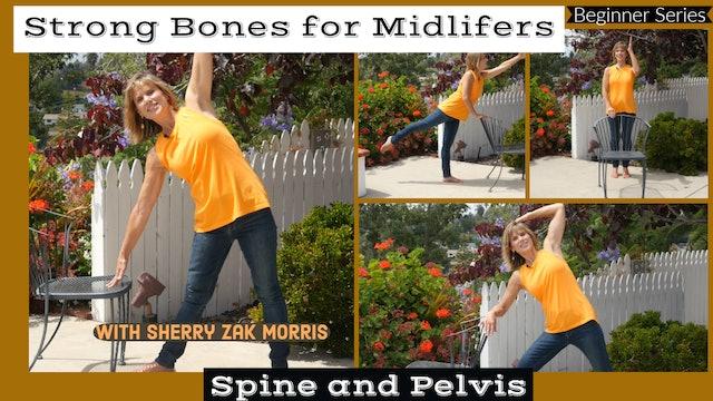 (15-Min) Strong Bones for Midlifers: Spine & Pelvis with Sherry Zak Morris