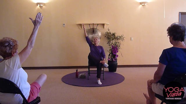 (1 Hr) Purple Passion Chair Yoga Class  with Paula Montalvo