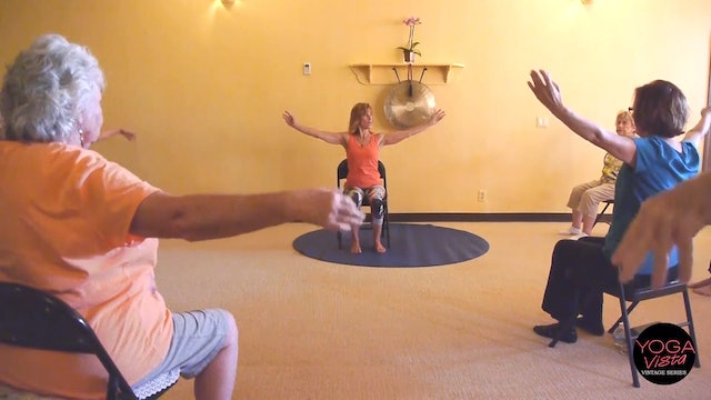 (1 Hr) Strong Muscles, Bones and Joints as we Age! Chair Yoga Class with Sherry Zak Morris