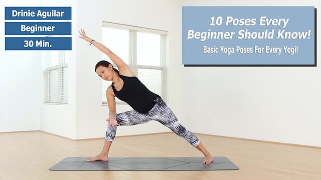 10 Beginner Yoga Poses - Part 1