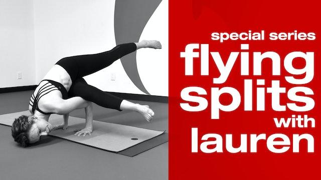Flying splits with Lauren