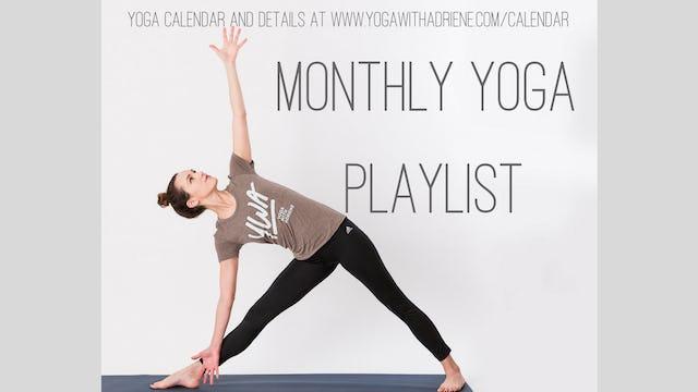 Monthly Yoga Playlist