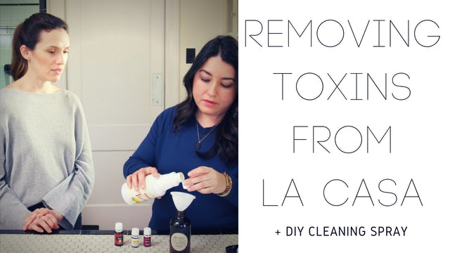 Removing Toxins From La Casa + DIY Cleaning Spray
