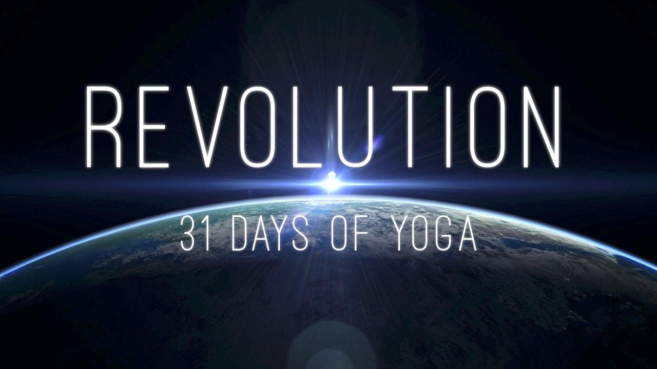 REVOLUTION - 31 Days of Yoga Blurred