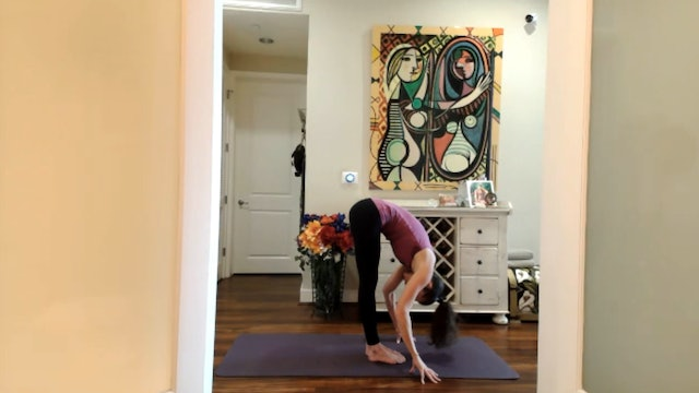 """Inside the chaos, build a temple of love"" (GRASSHOPPER POSE)"
