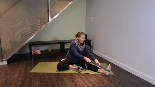 Prenatal Yoga Leg Stretch 12 min