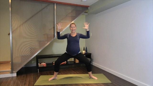 Prenatal Yoga Leg Strengthening  13 min